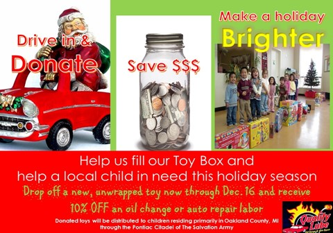 HOLIDAY TOY DRIVE!