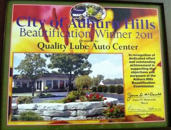 Auburn Hills beautification award