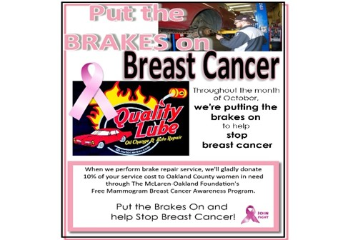 brakes for breast cancer