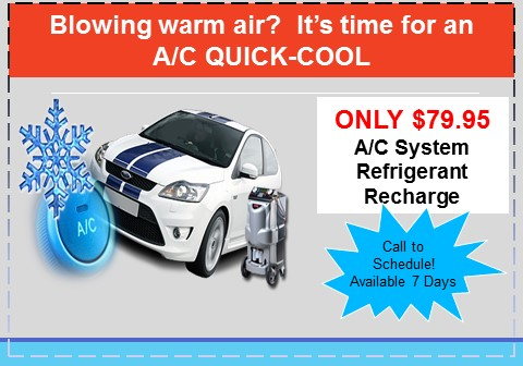 A/C recharge service